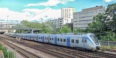 X60 local train (pendeltåg), Stockholm (Gösta Knochenhauer) Tags: 2014 august stockholm södermalm sweden tantolunden local transport dscn5977 train rail railway pendeltåg x60 nikon coolpix p520 suede suèd svezia suède schweden sverige suecia