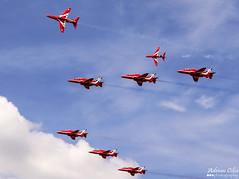 Royal Air Force --- Red Arrows --- British Aerospace Hawk T1A (Drinu C) Tags: plane hawk aircraft military sony dsc redarrows ffd fairford riat britishaerospace royalairforce t1a theroyalinternationalairtattoo egva hx100v adrianciliaphotography