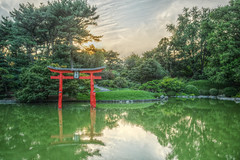 Koi Pond Sunset (HorsePunchKid) Tags: gothamist brooklynbotanicgarden hdr japanesehillandpondgarden qtpfsgui