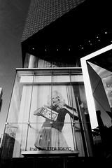 VERTICAL (Dance with the Strangers) Tags: people monochrome reflections japanese tokyo blackwhite model photographer 28mm streetphotography documentary harajuku billboards grdigital omotesando streetfashion 2014 candidportrait tokyocity urbanasia tokyuplaza verticalcrop shellter