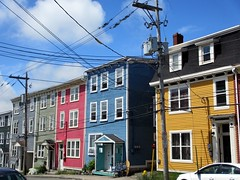 Primary colors, houses on Gower Street, St. John's, Newfoundland (Paul McClure DC) Tags: canada architecture newfoundland stjohns historic july2014