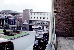 Broadgate - Coventry (Dundee City Archives) Tags: road street old public buses architecture modern buildings james view photos transport scene double broadgate walker shops 1960s coventry purcell shoppers radford decker spicers gkv93