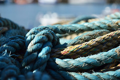 Ropes In Whitby. (capstick13) Tags: blue textures whitby ropes nautical whitbyscene whitbyseptember whitbyropes
