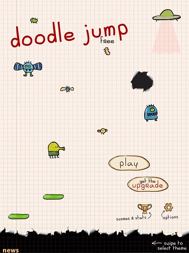 Doodle Jump Main Menu: screenshots, UI
