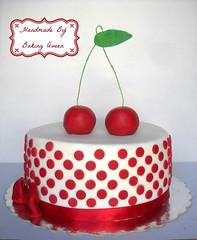 cherry cake 1 (baking.queen) Tags: ballet cake cherries laptop soccer spiderman bow pinwheel snowwhite fondant minions olympiacos pigsinmud lalaloopsy