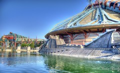 8:00 AM on Discoveryland (nicolas_bailly333) Tags: mountain paris studio landscape high nemo dynamic disneyland space magic marin kingdom disney submarine captain land jules walt tomorrowland discovery range eurodisney hdr hyperion sous capitaine verne discoveryland nautilius videopolis