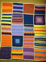 Adam Houston (The Crochet Crowd) Tags: mikey yarn blanket afghan cathy redheart challenge throw supersaver crochetsquares crochetchallenge thecrochetcrowd michaelsellick freeafghanpattern freecrochetvideos stitchcation