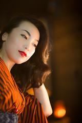 _69Q8107 (jojotaikoyaro) Tags: portrait japan canon tokyo 日本 kimono 人物 着物 ポートレート kagurazaka 新宿区 東京都 女性 1dx 85mmf12l2