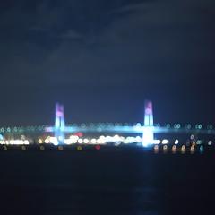 Yokohama bay bridge (Tetsushi Suzuki) Tags: light night square format yokohama