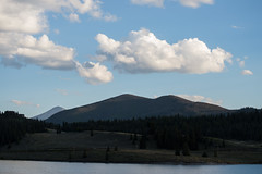 foot hills (sean.m.c photography) Tags: blue trees light sunset shadow summer sky sun white mountain lake mountains west tree green water set pine clouds foot big nikon midwest colorado shadows hill fluffy reservoir hills shade dillon setting frisco d3200 silverhtorne