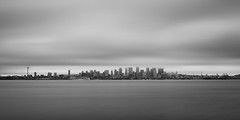 There Was A Time (John Westrock) Tags: seattle longexposure white motion black water clouds cityscape pacificnorthwest washingtonstate elliotbay bwnd1000x canoneos5dmarkiii sigma35mmf14dghsmart johnwestrock