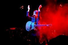 P1140674 (claymore2211) Tags: red musician female concert hands guitar smoke musical singer instrument winner onstage performer clap twothumbsup unanimous friendlychallenges superherochallenges