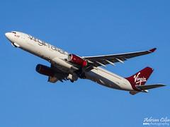 Virgin Atlantic Airways --- Airbus A330-300 --- G-VGEM (Drinu C) Tags: plane aircraft sony airbus dsc a330 virginatlantic mla virginatlanticairways lmml hx100v gvgem adrianciliaphotography