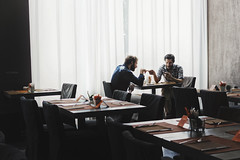 Love away from all. (FLIGHT_AMY) Tags: street people milan love breakfast work photography hotel peace room away
