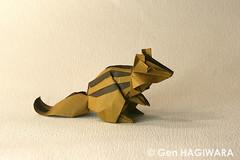 / Chipmunk (Gen Hagiwara) Tags: animal paper squirrel origami chipmunk gen folding hagiwara