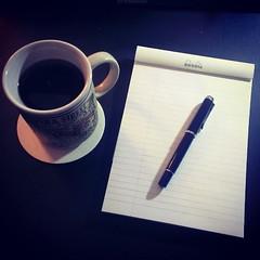 Hot coffee and Rhodia Ice make... (wetheppil) Tags: ice good 16 folgers rhodia m205 blacksilk exaclair uploaded:by=flickstagram pelikaninternational instagram:photo=785412587176470620701949489