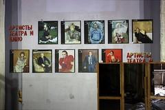 posters with actors (photosucher) Tags: kino theater eingang haus treppe ddr spree der foyer plakate gdr ussr offiziere schauspieler udssr plakatwand hdo frstenwalde vestibl gssd gsvg kinotheater