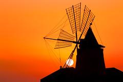 Windmill (luigig75) Tags: sunset italy sun windmill canon italia tramonto sicily saline saltflats sicilia marsala ettore 70d mulinoavento stagnone canonef70200mmf4lusm infersa