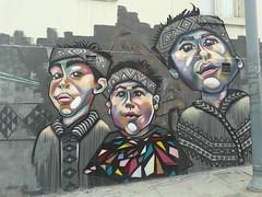 Mural indígena 2 (Cass Larenas) Tags: street puerto valparaiso mural indígena mapuche