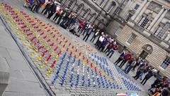 IndyRef - Catalonia & Scotland 04 (byronv2) Tags: scotland edinburgh candles candle flag politics scottish flags catalonia parliamentsquare independence cobbles oldtown catalan saltire edimbourg independencereferendum indyref