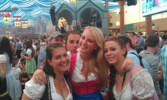 Local girls with The dirndl dress!