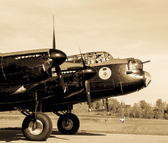 Vera & Crew (Beverley Johns) Tags: vintage wings aviation gatineau lancaster bomber warplane bombertour14