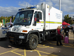 SY54SAR (Emergency_Vehicles) Tags: show red mercedes birmingham support cross control communication service british emergency incident unimog nec unit the 2014 sy54sar