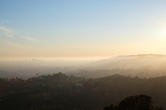 Hollywood Hills (Dominik Schmitz) Tags: california park travel sunset vacation usa america evening la los view angeles hills observatory hollywood griffith westcoast