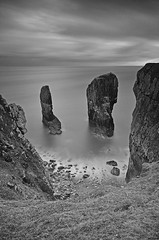 Elegug stacks_B&W (neath stan the man[on a break]) Tags: wfc nikon sigma1020 leefilters 10stopper wales pembrokeshire landscape seascape spectacular
