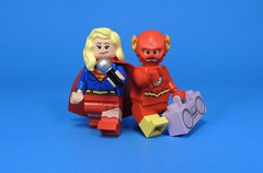 Duet! (MrKjito) Tags: lego minifig super hero comic comics flash supergirl singing musical crossover dc cw