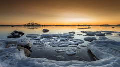 Orange is the new black (Mika Laitinen) Tags: balticsea canon5dmarkiv europe finland helsinki kallahdenniemi kallvik scandinavia suomi vuosaari colorful ice icefloe landscape longexposure nature ocean outdoor rock sea seascape shore sky snow sunset water winter uusimaa fi