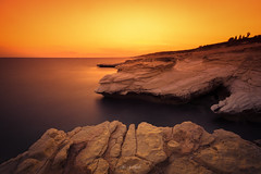 Golden Hour (Alex Apostolopoulos) Tags: longexposure sunset magic rocks seascape sky sun whitestones water sea landscape goldenhour cyprus sony sonya6000 ilce6000 samyang samyang12mmf20ncscs haidafilters manfrottobefree