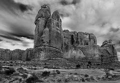 Arches NP (kattewompus) Tags: arches nationalpark moab utah bw rocks