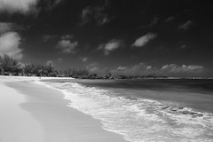 untitled . (helmet13) Tags: d700 raw bw mauritius people women beach tropicalbeach tropical vacation space silence indianocean sky clouds sunshine recreative shandrani luxuryresort parasol surf wave aoi heartaward peaceaward world100f 100faves