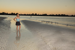Early Morning Light (tomdiakun) Tags: sunrise strobist lido key diakun sarasota seagull water gulf mexico canon 5dmarkiv