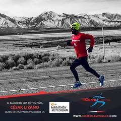 Este fin de semana nuestro entrenador Cesar Lizano estará en la maratón de Rotterdam buscando obtener la marca para el Campeonato Mundial de Atletismo. ¡Desde ya todo nuestro apoyo! Adelante campeón. ¡Lo mismos deseos para Jenny Méndez y el resto de atlet