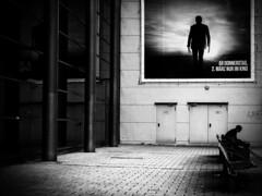 Logan (Sandy...J) Tags: street streetphotography monochrom blackwhite urban man olympus alone bw city