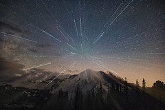 Star Rays (Stephanie Sinclair) Tags: mrnp mtrainier nationalpark pnw rainier usdepartmentoftheinterior washingtonstate canon80d clouds findyourpark mountains nightphotography seattleempress sigma stars stephaniesinclairphotography