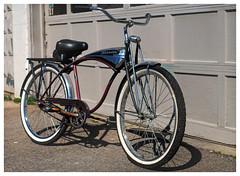 1948 Schwinn (daveelmore) Tags: 1948 schwinn bicycle bike vintage antique stitchedpanorama manualfocus legacylens penfm43adapter hzuiko42mm112