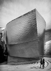 ...and all who sail in her (Dave_Davies) Tags: bilbao spain guggenheim museum people candid building architecture frank gehry