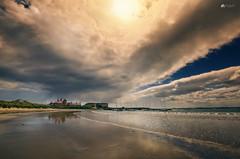Sunshine and showers... (Kerriemeister) Tags: beadnell bay harbour northumberland sand beach sea yachts reflection clouds cloud cloudscape sky sunshine showers nikond5200 sigma lime kilns coast coastal