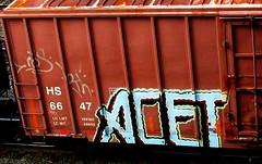 mos - acet (timetomakethepasta) Tags: mos bth acet freight train graffiti art boxcar hs