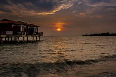 the interval (MailHamdi) Tags: mailhamdiimages portdickson negerisembilan sunset beach sandybeach sun oceanview batu4 bluesky cloudysky nikon nikkor18105mm