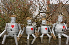 The Tin Men (acwills2014) Tags: men tin tinman oz landofoz wizardofoz fun funny humour heart red pub brokenheart happy grin