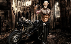 The Priest (Migan Forder) Tags: elf male fantasy motorcycle rider bikes bobber iron second life turlaccor custombike motorcycles chopper virtual world moto gp cross enduro harley sportbike roadster biker bike cycles bici vehículo motocicleta gbkoshikimono