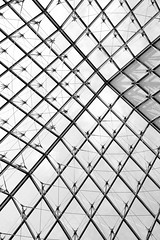 Abstract Louvre Pyramid (jeffclouet) Tags: paris france europe louvre capital pyramide piramide pyramid windows fenetre ventanas abstract abstracto abstrait monochrome bw pb nb architecture arquitectura moderne moderno modern museo musee museum monument monumento minimalism minimal symmetry urbain urban urbano infrastructure geometrico geometric geometry geometrique graphic graphique grafico nikon nikkor d7100 city cuidad ville batiment building artistique