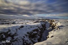 Þingvellir (wilbias) Tags: ark winter water north snow national american iceland boundary plates þingvellir thingvellir eurasian tectonic divergent ngc