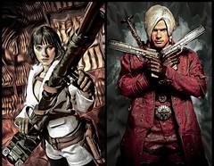 'Demon Hunters' (vince.warrican) Tags: devilmaycry3 devilmaycry devilmaycrykitbashfigure demonhunter devilmaycrycustomfigure devilmaycrydante ladydevilmaycry marydevilmaycry devilmaycry4 devilmaycry16scalefigure devilmaycryactionfigure sonofsparda capcom dmc dmc4 videogamefanart fanart videogamecharacters videogames onesixthscale kitbash blackhairedgirl silverhair portrait actionfigurephotography actionfigures photography dualpistols rocketlauncher costume swordsman sword redeye whitesuit