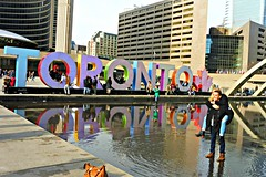 Toronto welcomes you... (Trinimusic2008 - stay blessed) Tags: trinimusic2008 judymeikle urban yesterday april 2017 spring toronto3dsign candid toronto to ontario canada cityhall nathan phillips square torontoin3dsign