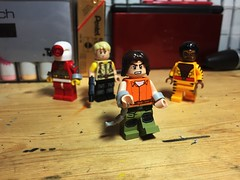 Blockbuster (LordAllo) Tags: lego dc suicide squad blockbuster deadshot rick flag bronze tiger